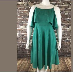 New ANN TAYLOR Spaghetti Strap Flowly Dress sz14p